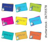retro frames  stickers and tags ... | Shutterstock .eps vector #36755578