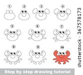 cute crab. step by step drawing ... | Shutterstock .eps vector #367578173