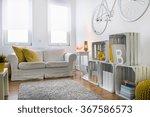 white sofa in stylish  light... | Shutterstock . vector #367586573