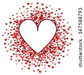 romantic red heart background.... | Shutterstock .eps vector #367588793