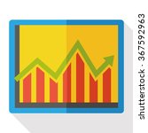 business graphics flat icon