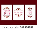 set of saint valentines day... | Shutterstock .eps vector #367598237