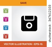 vector icon of save with title  ... | Shutterstock .eps vector #367612103