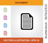 vector icon of document with...