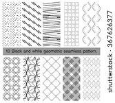 10 black and white geometric... | Shutterstock .eps vector #367626377