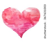 hand painted red watercolor... | Shutterstock . vector #367631003