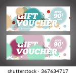 gift voucher design template.... | Shutterstock .eps vector #367634717