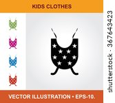 Vector Icon Of Baby Clothes ...