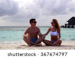 he and she on the beach | Shutterstock . vector #367674797