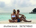he and she on the beach | Shutterstock . vector #367674863