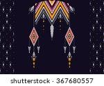 geometric ethnic pattern... | Shutterstock .eps vector #367680557