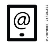 email app bold line vector icon