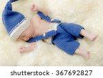 newborn baby with sweet hat | Shutterstock . vector #367692827