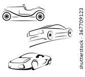 vector car icon set.   | Shutterstock .eps vector #367709123