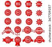 Best Seller Sign Symbol   Red...