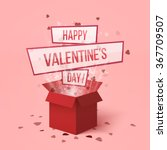 happy valentines day.valentines ... | Shutterstock .eps vector #367709507