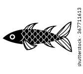 vector stylish cartoon fish... | Shutterstock .eps vector #367711613