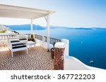 beautiful terrace with sea view.... | Shutterstock . vector #367722203