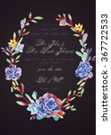 invitation card. blue... | Shutterstock . vector #367722533
