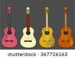 hand drawn vector guitars | Shutterstock .eps vector #367726163