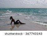 beautiful girl on the sea | Shutterstock . vector #367743143