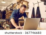 serious young business owner... | Shutterstock . vector #367746683