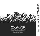 mountain range isolated on...   Shutterstock .eps vector #367749833