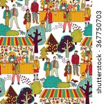 art hand made fair toys in park ... | Shutterstock .eps vector #367750703
