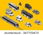 isometric 3d transport set flat ... | Shutterstock .eps vector #367753673