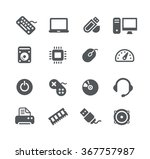 computer components icons   ... | Shutterstock .eps vector #367757987