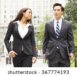 well dressed man and woman... | Shutterstock . vector #367774193