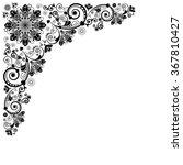 vector vintage floral ...   Shutterstock .eps vector #367810427
