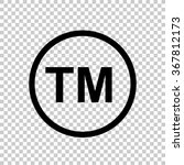 tm    black vector icon | Shutterstock .eps vector #367812173