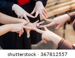 hands of young people in the... | Shutterstock . vector #367812557