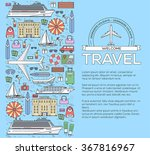 tourism infographic concept... | Shutterstock .eps vector #367816967