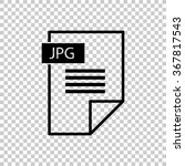 jpg icon    black vector icon | Shutterstock .eps vector #367817543