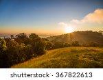 Summer Landscape Sunrise In Th...