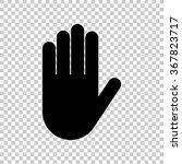 hand    black vector icon | Shutterstock .eps vector #367823717