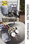 Small photo of Air Conditioning Units With Gauges