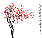 love tree with heart leaves | Shutterstock .eps vector #367836863