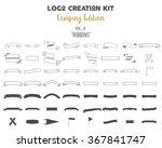 logo creation kit bundle.... | Shutterstock .eps vector #367841747