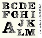 elegant capital letters set 1... | Shutterstock .eps vector #367843163