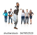 full body cool black man dancing | Shutterstock . vector #367852523