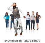 full body cool black man dancing | Shutterstock . vector #367855577