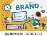branding design concept.... | Shutterstock .eps vector #367875743