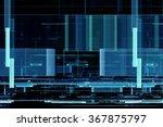 abstract futuristic matrix like ... | Shutterstock . vector #367875797