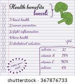 health benefits of broccoli.... | Shutterstock .eps vector #367876733