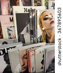 Small photo of Cologne,Germany- January 26,2016: Popular german magazines on display in a store in Cologne,Germany