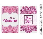 happy valentine's day greeting... | Shutterstock .eps vector #367918073