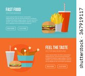 fast food vector concept. lunch ... | Shutterstock .eps vector #367919117